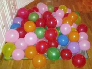 Fotos de los globos para el tercer cumpleaños de Marcos