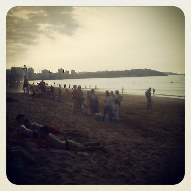 Fin de la jornada #Gijón #playa