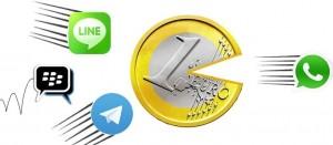Revolución WhatsApp LINE Telegram BBM