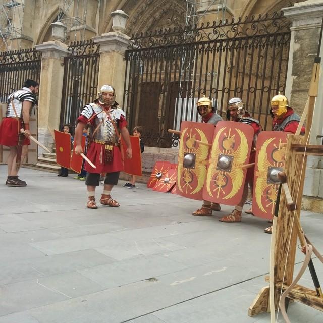 Aprendiendo las artes de guerra del ejército romano #leonesp