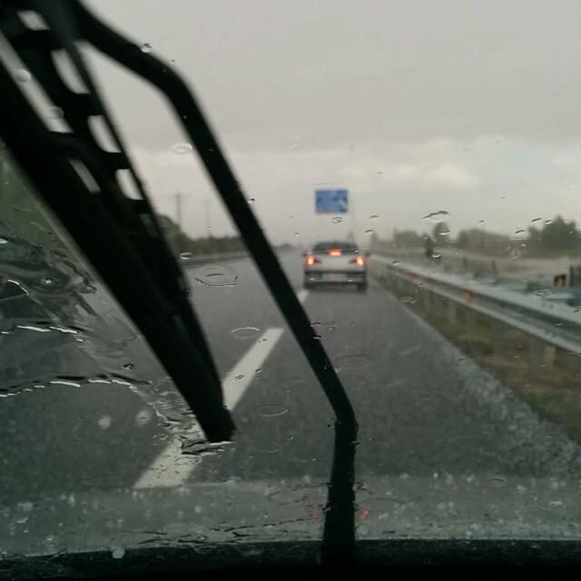 Granizada entre Palencia y Valladolid