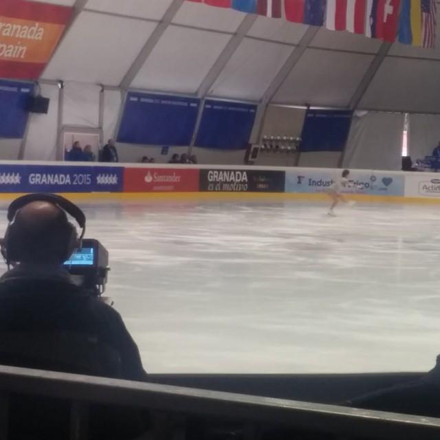 La campeona Sonia Lafuente ante el clamor del público... Y todas las cámaras #Universiada2015 #WinterUniversiade