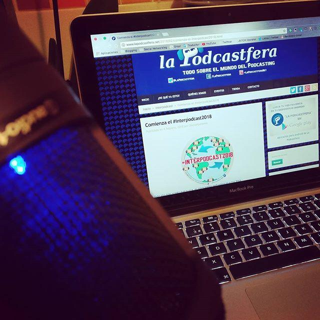 #Relaxtime merecido con el mejor podcasting para finalizar el día #podcasting #podcast #interpodcast2018