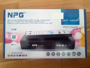 imagen del Sintonizador/grabador TDT NPG-DHT310np