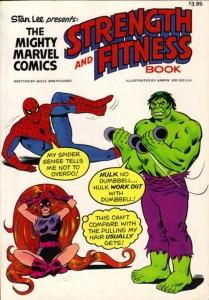 Imagen de la portada del libro de Fitness protagonizado por personajes de la Marvel