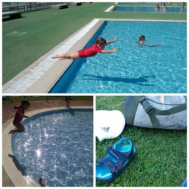 Disfrutando de la piscina :D #verano #sinfiltros