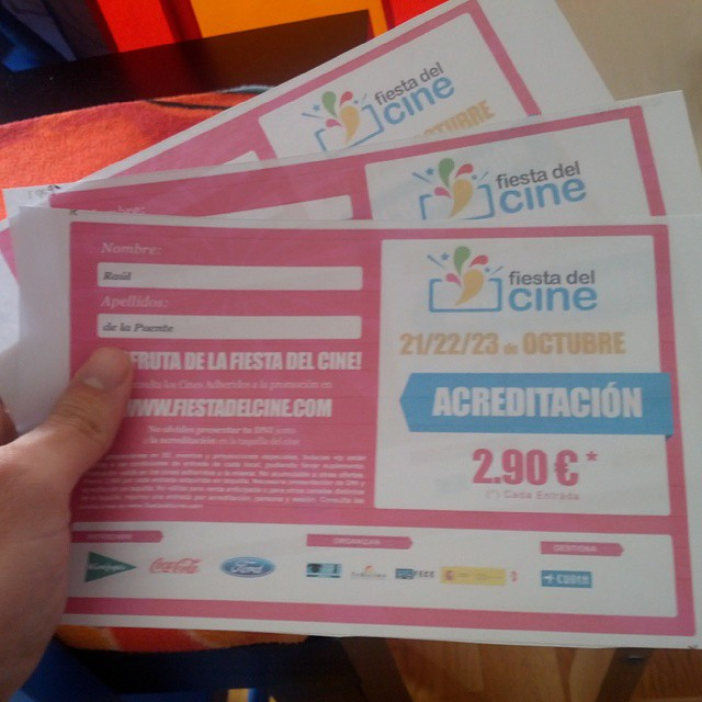 Here we go! #fiestadelcine