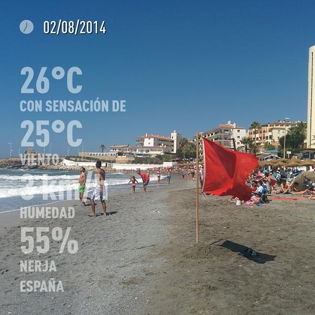 Baño complicado :( #nerja #españa #day #summer