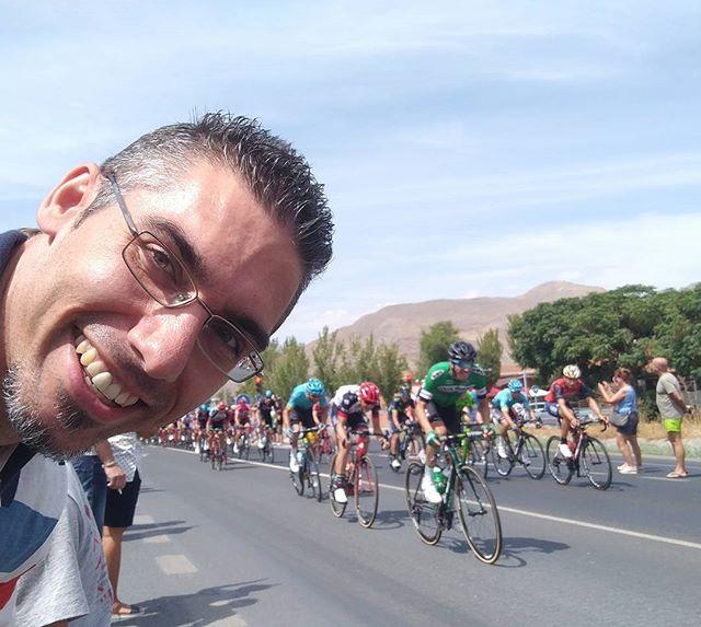El selfie del momento #lavuelta #LV2017 #ciclismo