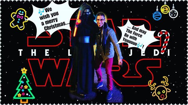 A short time ago in a cinema far, far away...#merrychristmas #StarWarsTheLastJedi #StarWarsTheLastJedi #FelizNavidad