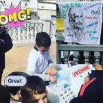 Que los #niños divulguen la #ciencia es lo mejor que puede pasarle al mundo. Insuperable. #orgulloso #feriadelaciencia