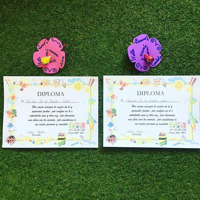Los primeros diplomas de los peques #mellizos #educacioninfantil