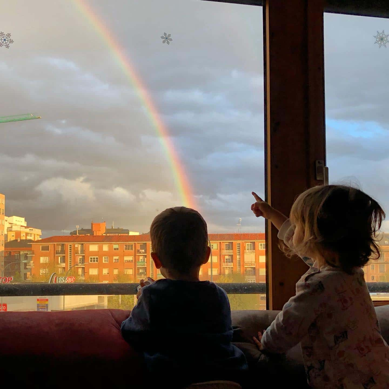Arco iris en #leonesp #arcoiris #rainbow #familia